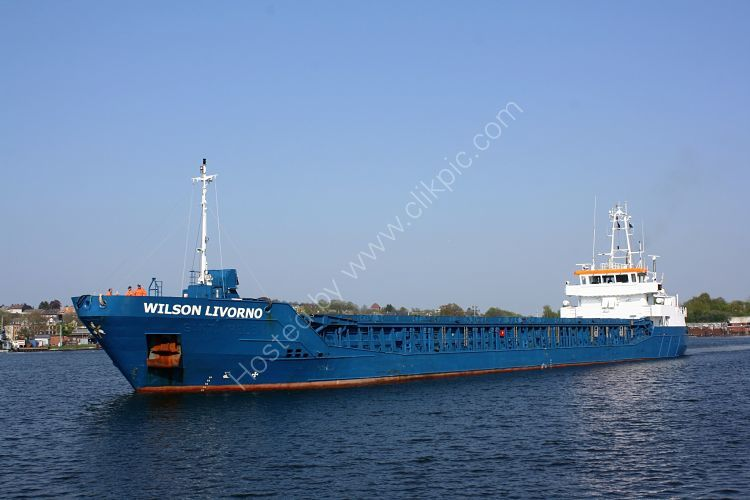 Ref CSSC-29 Wilson Livorno General Cargo Ship Kiel Canal Germany 2014 (C)RLT Aviation And Maritime Images 2018