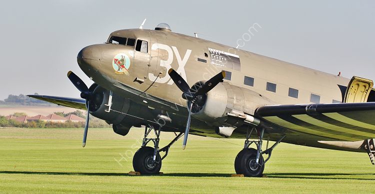 Ref DC3-17 Douglas C47 Dakota 2100882 N5831B USAF Private Ownership Duxford Aerodrome Cambridgeshire Gt Britain 2010 (C)RLT Aviation And Maritime Images 2018