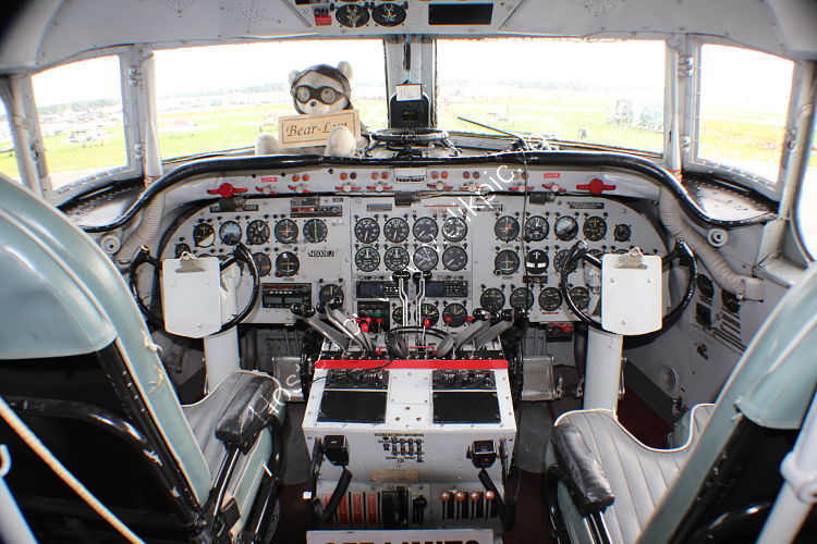 Ref DC4-17 Preserved Cockpit Of Douglas C54E Skymaster N500EJ Ack-Berlin Airlift Historical Foundation 2015 (C)RLT Aviation And Maritime Images 2018 opt