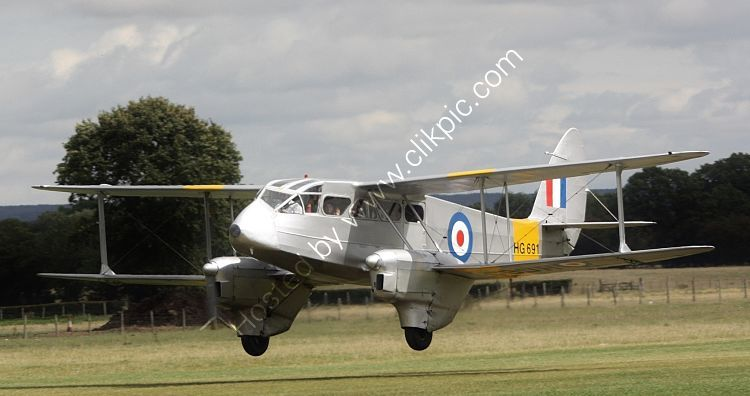 Ref DH89-31 De Havilland DH89A Dragon Rapide HG691-G-AIYR Headcorn Aerodrome Kent Gt Britain 2014 (C)RLT Aviation And Maritime Images 2018