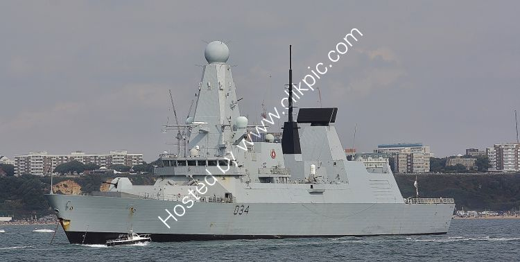 Ref DTY-36 HMS Diamond D34 Royal Navy Type 45 Destroyer Bournemouth Bay Hampshire Gt Britain 2018 (C)RLT Aviation And Maritime Images 2018 opt