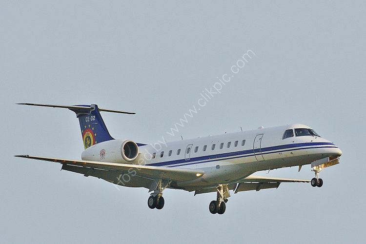 Ref E135-3 Embraer ERJ 135LR CE-02 Belgium Defence Force RAF Lakenheath Suffolk Gt Britain 2017 (C)RLT Aviation And Maritime Images 2018