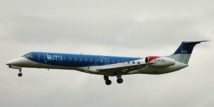 Ref ER145-3 Embraer ERJ 145EP G-RJXG British Midland Regional Airways London Heathrow Airport Gt Britain 2012 (C)RLT Aviation And Maritime Images 2018