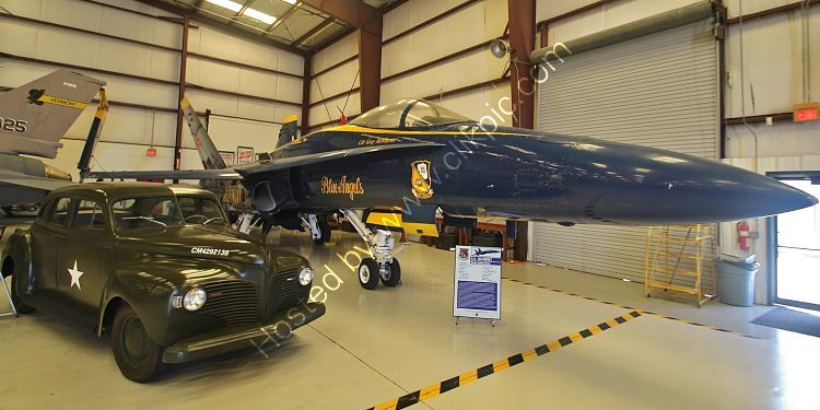 Ref F18-1 Boeing F18A Super Hornet USN (Blue Angels) 161948 Ack-Valiant Air Command Warbirds Museum Titusville Florida USA 2015 (C)RLT Aviation And Maritime Images 2018 opt