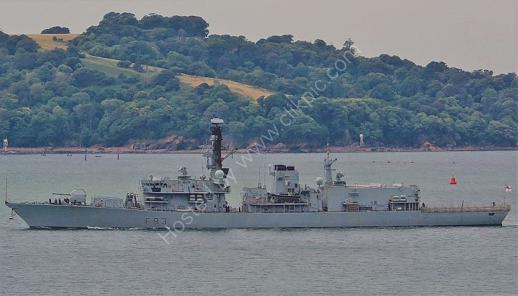 Ref FRG22 HMS St Albans F83 Royal  Navy Plymouth Sound Devon Gt Britain 2018 (C)RLT Aviation And Maritime Images 2018