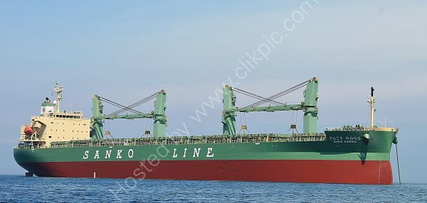 Ref GCO(G)21 Sanko Mineral Geared Cargo Ship Torbay Deep Water Anchorage Gt Britain 2013 (C)RLT Aviation And Shipping Images 2018