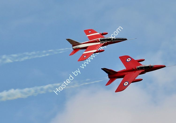 Ref GDT1 Folland Gnat T1s XR538-G-RORI  And  XS111-G-TIMM The Gnat Display Team Dawlish Airshow Devon Gt Britain 2014 (C)RLT Aviation And Maritime Images 2018