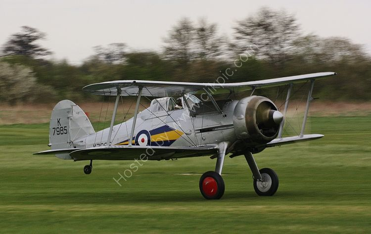 Ref GLD10 Gloster Gladiator 1 K7985 G-AMRK Ex RAF The Shuttleworth Trust Old Warden Bedfordshire Gt Britain 2013 (C)RLT Aviation And Maritime Images 2018