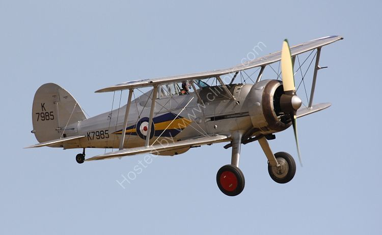 Ref GLD21 Gloster Gladiator 1 K7985 G-AMRK Ex RAF The Shuttleworth Trust Old Warden Aerodrome Bedfordshire Gt Britain 2013 (C)RLT Aviation And Maritime Images 2018