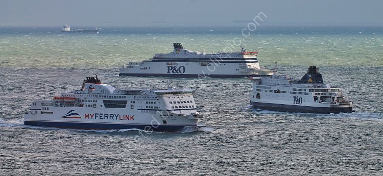Ref GP-5 Ferries Crossing The English Channel Near Dover Kent Gt Britain 2012 (C)RLT Aviation And Maritime Images 2018