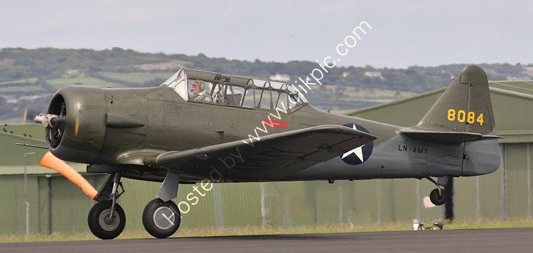 Ref HAR-20 North American AT6 Texan 8084 LN-AMY USAAF Private Owner RNAS Culdrose Cornwall Gt Britain 2010 (C)RLT Aviation And Maritime Images 2018 opt