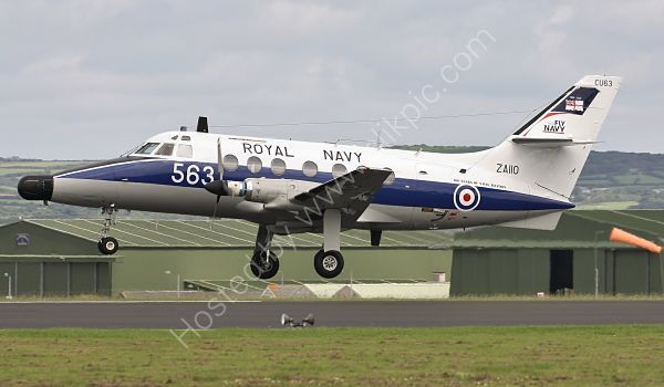 Ref HPJ9 Handley Page HP 137 Jetstream T2 ZA110  Royal Navy RNAS Culdrose Gt Britain 2010 (C)RLT Aviation And Maritime Images 2018