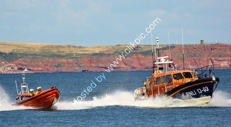 Ref LBRV19 RNLB R And J Wellburn 13-03 RNLI Tamar Class Lifeboat And Atlantic Class RIB Dawlish Devon GB 2014 (C)RLT Aviation And Maritime Images 2018 opt