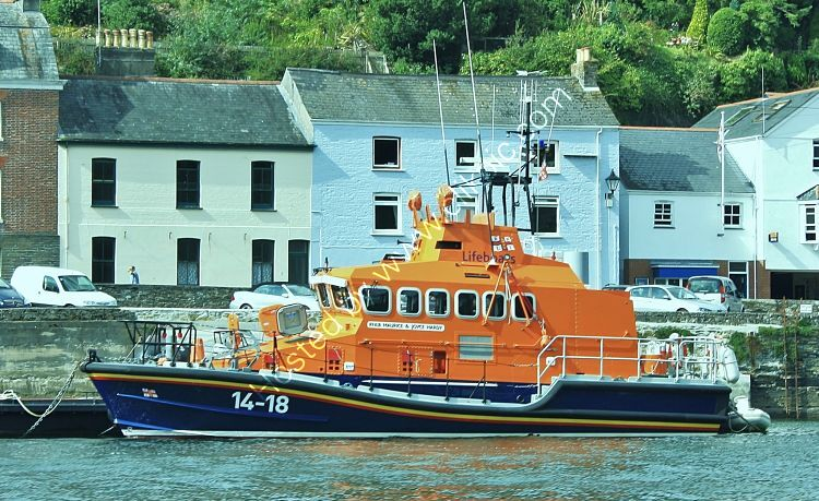 Ref LBRV4 RNLB Maurice And Joyce Hardy 14-18 RNLI Trent Class Lifeboat Fowey Cornwall Great Britain 2011 (C)RLT Aviation And Maritime Images 2018 opt