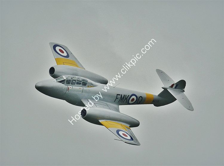 Ref MET2 Gloster Meteor T7 WA591 G-BWMF RAF/Aviation Heritage Ltd  RNAS Culdrose Cornwall Gt Britain 2013 (C)RLT Aviation And Maritime Images 2018
