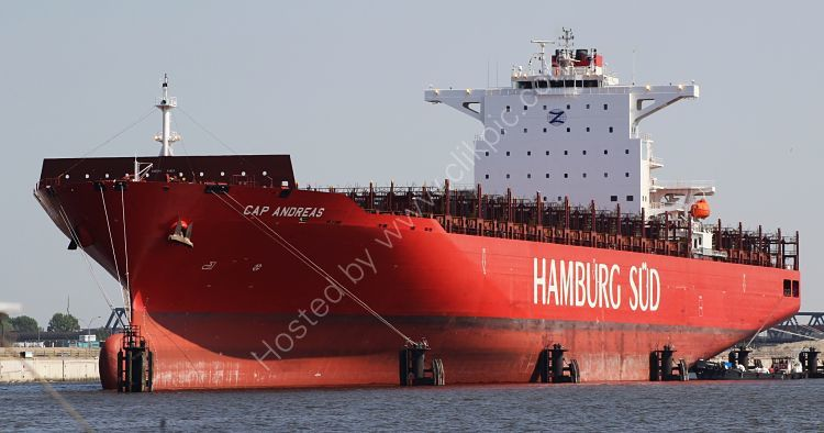 Ref OCT-207 Cap Andreas Container Ship Port Of Hamburg Hamburg Germany 2014 (C)RLT Aviation And Maritime Images 2018