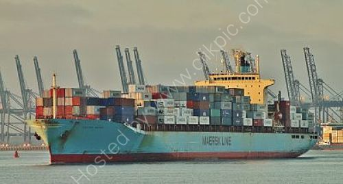 Ref OCT43 Sea Land Meteor Container Ship Felixstowe Docks Suffolk Gt Britain 2012 (C)RLT Aviation And Maritime Images 2018