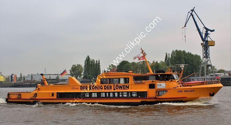Ref PF14 Jan Molsen Passenger Ferry Port Of Hamburg Germany 2014 (C)RLT Aviation And Maritime Images  2018 opt