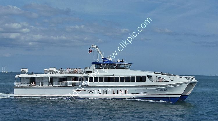 Ref PF51 Wight Ryder 1 Passenger Ferry Eastern Solent Hampshire Gt Britain 2019 C)RLT Aviation And Maritime Images 2018 opt