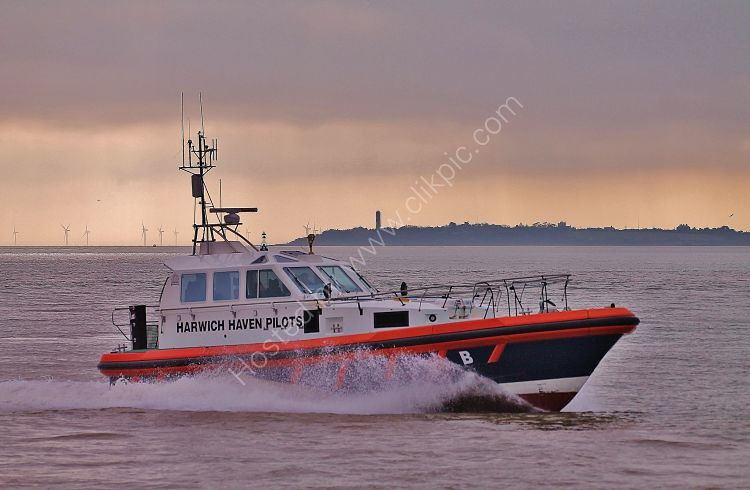 Ref PL11 St Brendan Harwich Haven Pilots Vessel Pilot Boat  Entering The River Orwell Felixstowe Suffolk Gt Britain 2012 (C)RLT Aviation And Maritime Images 2018