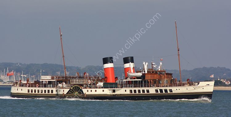 Ref PSD7 Waverley Preserved Paddle Steamer Southampton Water Hampshire Gt Britain 2010 (C)RLT Aviation And Maritime Images 2018