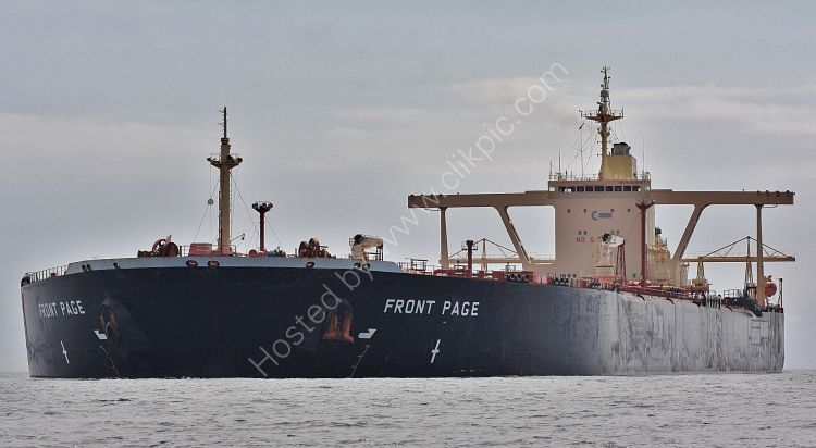 Ref PVT-158 Front Page Tanker Torbay Deep Water Anchorage Devon Gt Britain 2010 (C)RLT Aviation And Maritime Images 2018