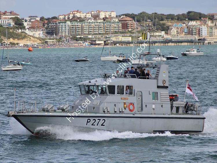Ref RNGB(CPT)-11 HMS Smiter P272 Royal Navy Patol Vessel Bournemouth Bay Hampshire Gt Britain 2014 (C)RLT Aviation And Maritime Images 2018 opt