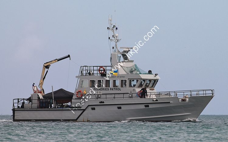 Ref RSV12 Drumbeat Of Devon UK Fisheries Patrol Vessel Entering Brixham Harbour Devon GB 2012 (C)RLT Aviation And Maritime Images 2018 opt