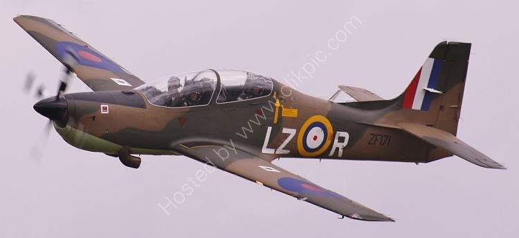 Ref SHT21 Shorts Tucano T1 RAF ZF171 Cotswold(Kemble) Airport Gloucestershire Gt Britain 2010 (C)RLT Aviation And Maritime Images 2018