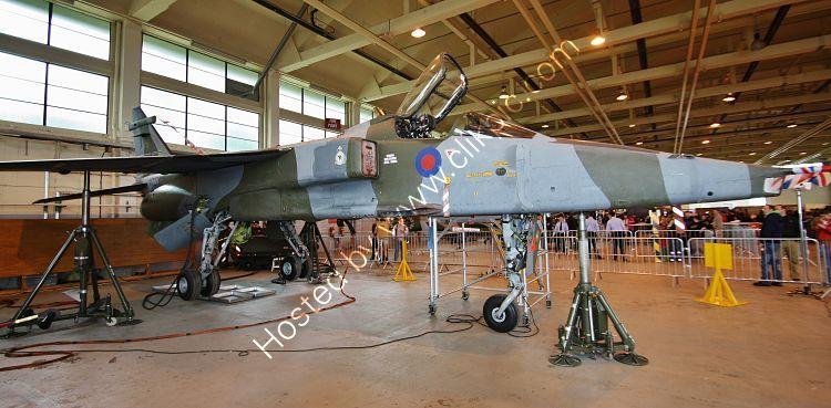 Ref SJR-6 SEPECAT Jaguar GR1 XX727 RAF Apprentices Training School RAF Cosford Shropshire GB 2012 (C)RLT Aviation And Maritime Images 2018 opt