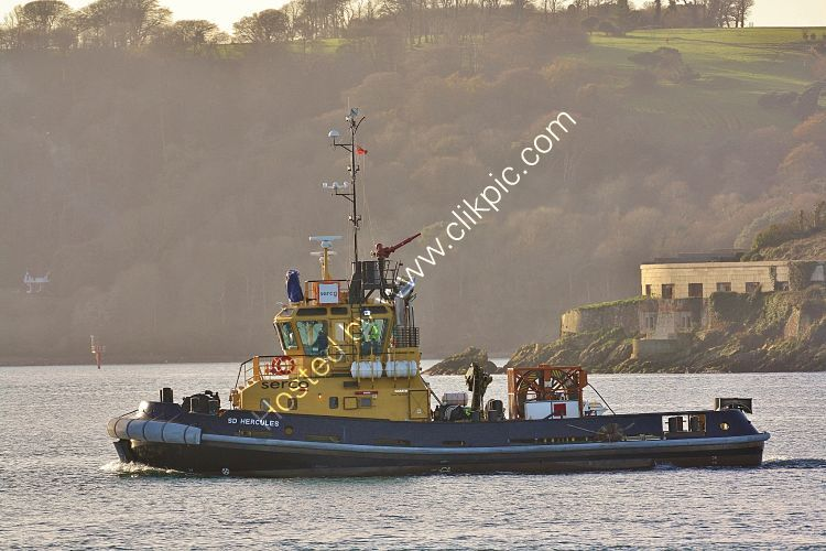 Ref TSV119 SD Hercules Tug Plymouth Sound Plymouth Devon Gt Britain 2012 (C)RLT Aviation And Maritime Images 2018 opt