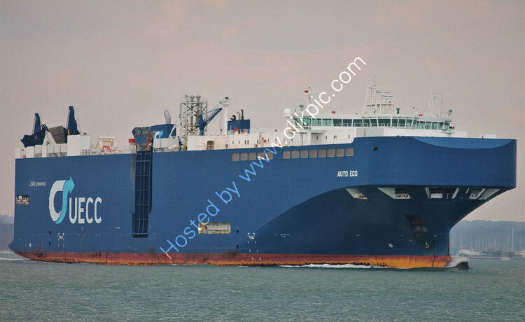 Ref VCR-219-Auto Eco Truck And Vehicle Carrier Southampton Water Hampshire GB 2021 (C)Copyright Reserved RLT-Aviation And Maritime Images 2021