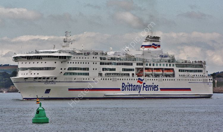 Ref VFBF4 Pont Aven Brittany Ferries Plymouth Sound Gt Britain 2010 (C)RLT Aviation And Maritime Images  2018