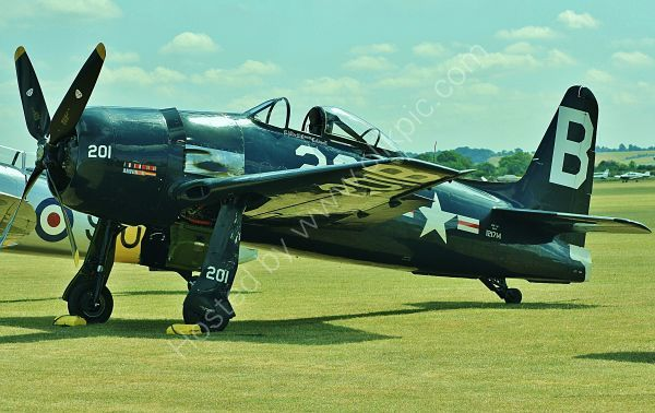 Ref  GRB1 Grumman F8F Bearcat 2P 121714 G-RUMM USN/Patina Ltd Duxford Aerodrome Gt Britain 2010 (C)RLT Aviation And Maritime Images 2018