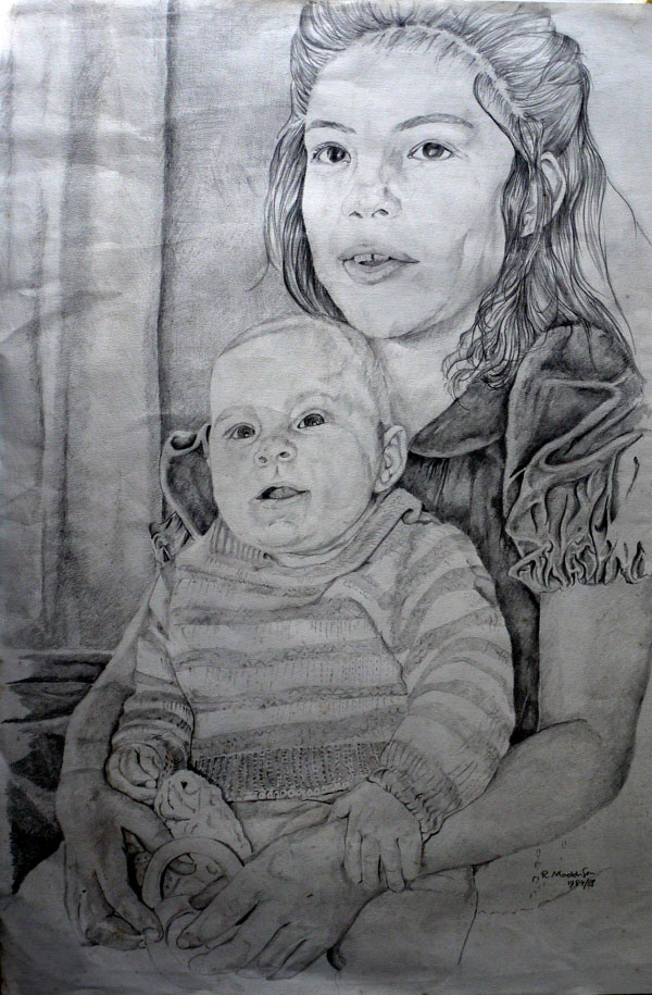 Natalie and Joseph, pencil drawing