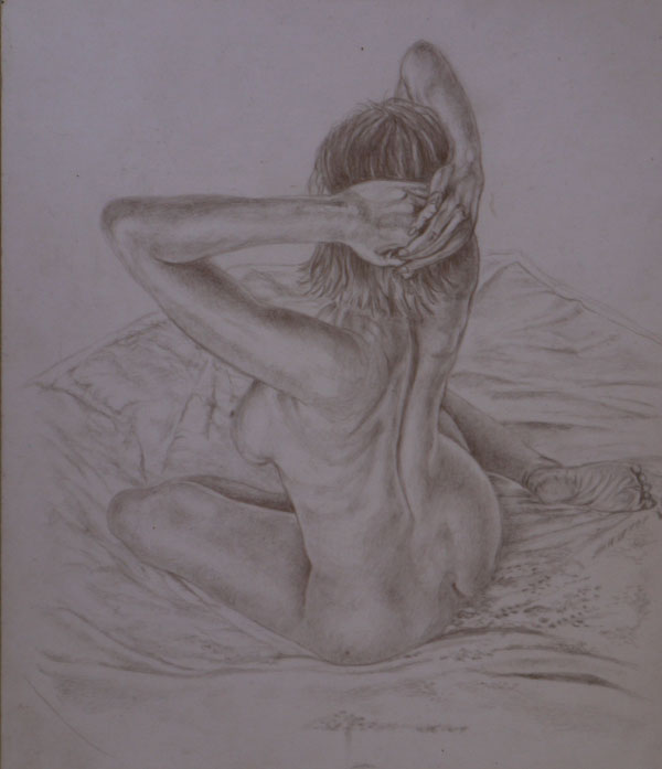 Gold and Silverpoint Nude Drawing