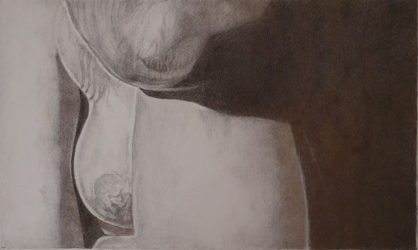 Gold and silverpoint drawing