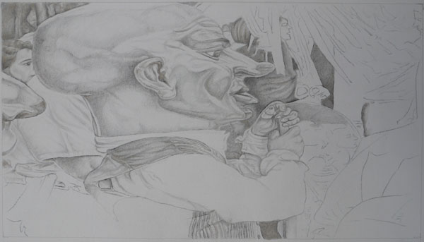 Work in progress, Gold and silverpoint drawing