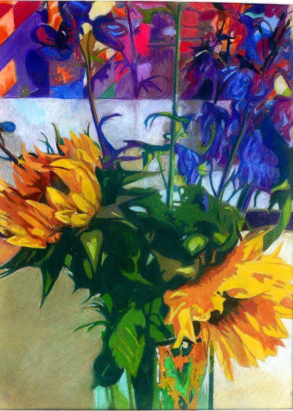 Sunflowers, Pastel