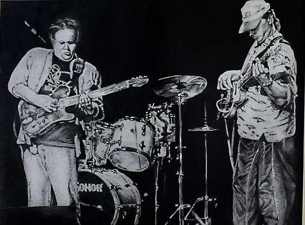 Walter Trout- Bluesman, pencil drawing