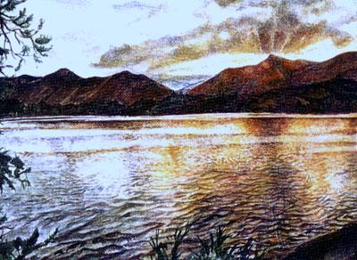 Sunset over Derwentwater
