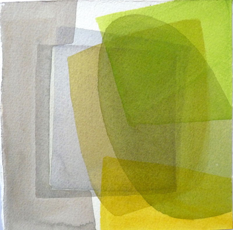 Translucent abstract watercolour.