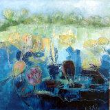 SPRING SURGE. Oil on canvas 50x50cm
