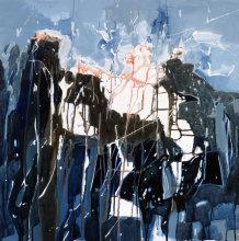 BREAKTHROUGH!  Acrylic on deep edge canvas. 76x76cm