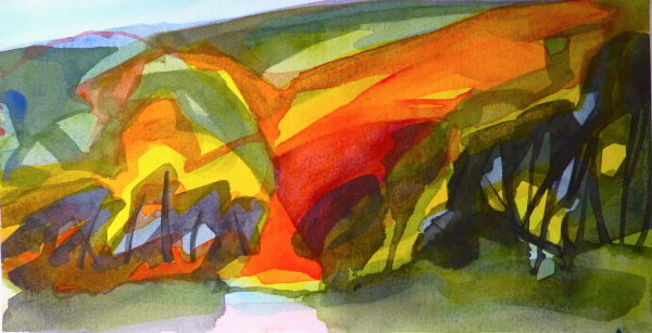 Bright Valley. See now at the Aubrey Gallery, Gt. Dunmow, Essex.