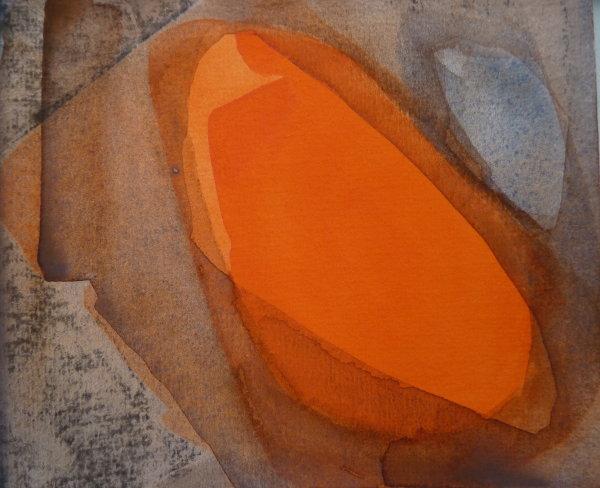 Hot orange.