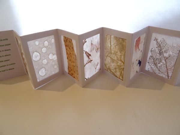 5 miniature folded book