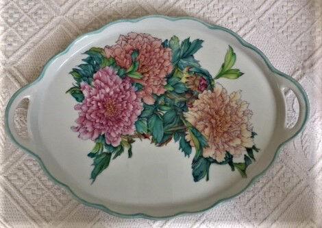 Chrysanthamums on a china tray