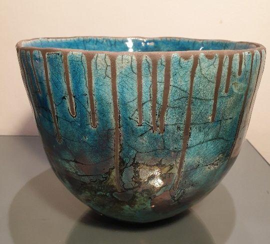 Raku coiled bowl resized