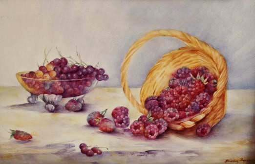 Summer Fruits in a Basket